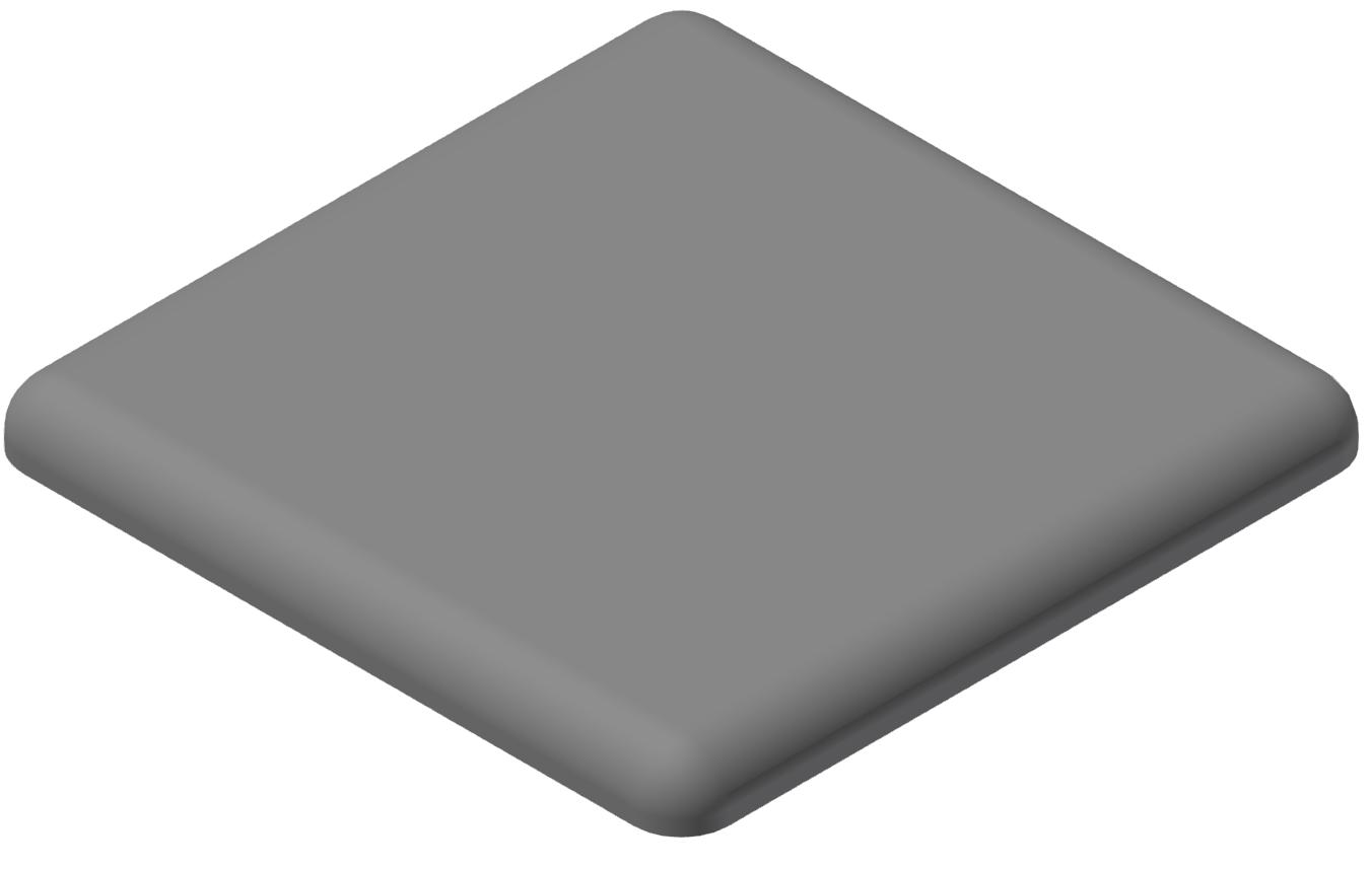 Abdeckkappe 45x45, grau-10