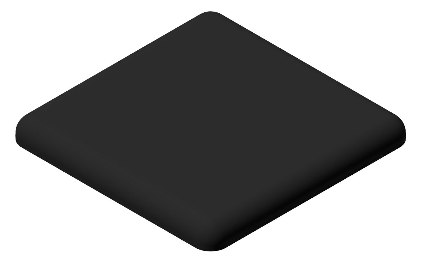 Abdeckkappe 40x40, schwarz-10