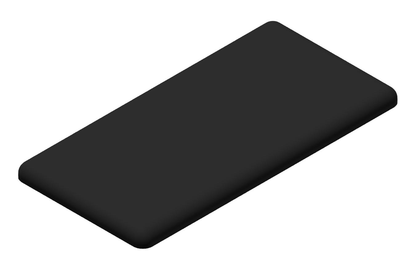 Abdeckkappe 40x80, schwarz-10