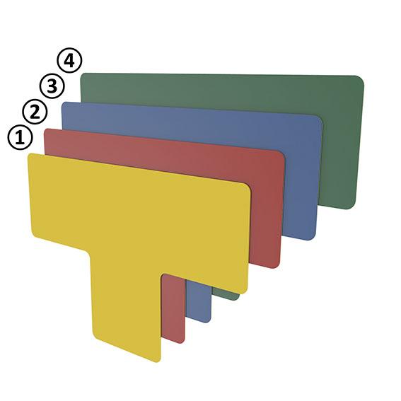 Bodenmarkierung T-Form 50 - blau