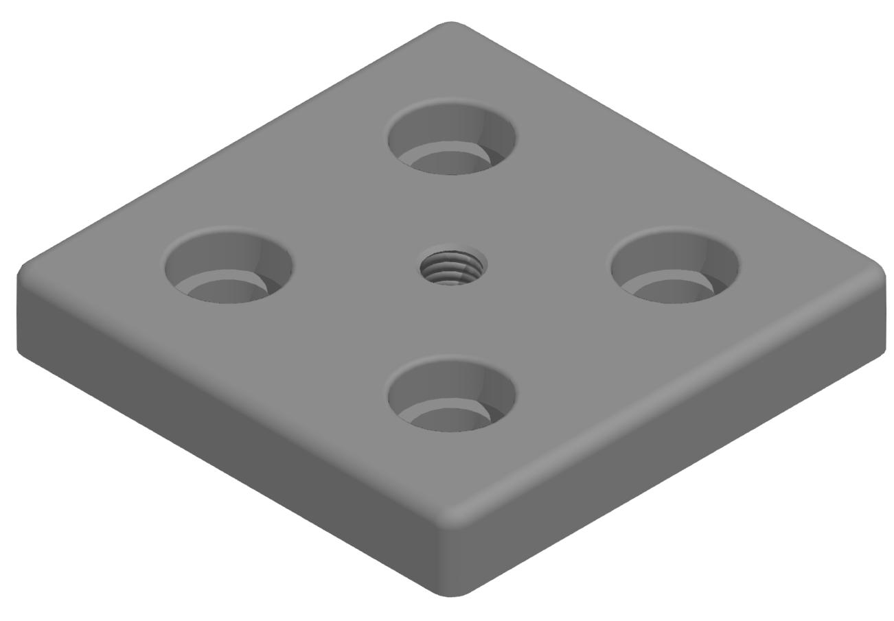 Fußplatte 100x100 M12 - 10