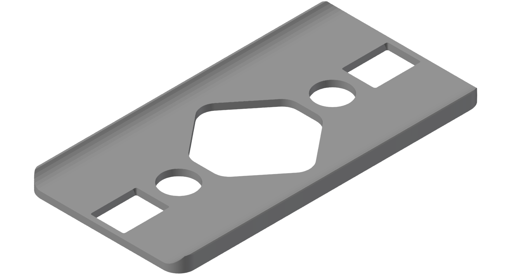 Radien-Dichtung 8 80x40 R80, grau