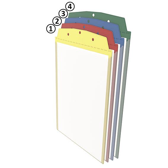Anhänge-Sichttasche DIN A4 hoch - blau