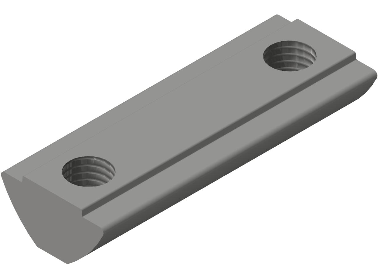 Nutenstein 2xM6-36 steg, verzinkt-8