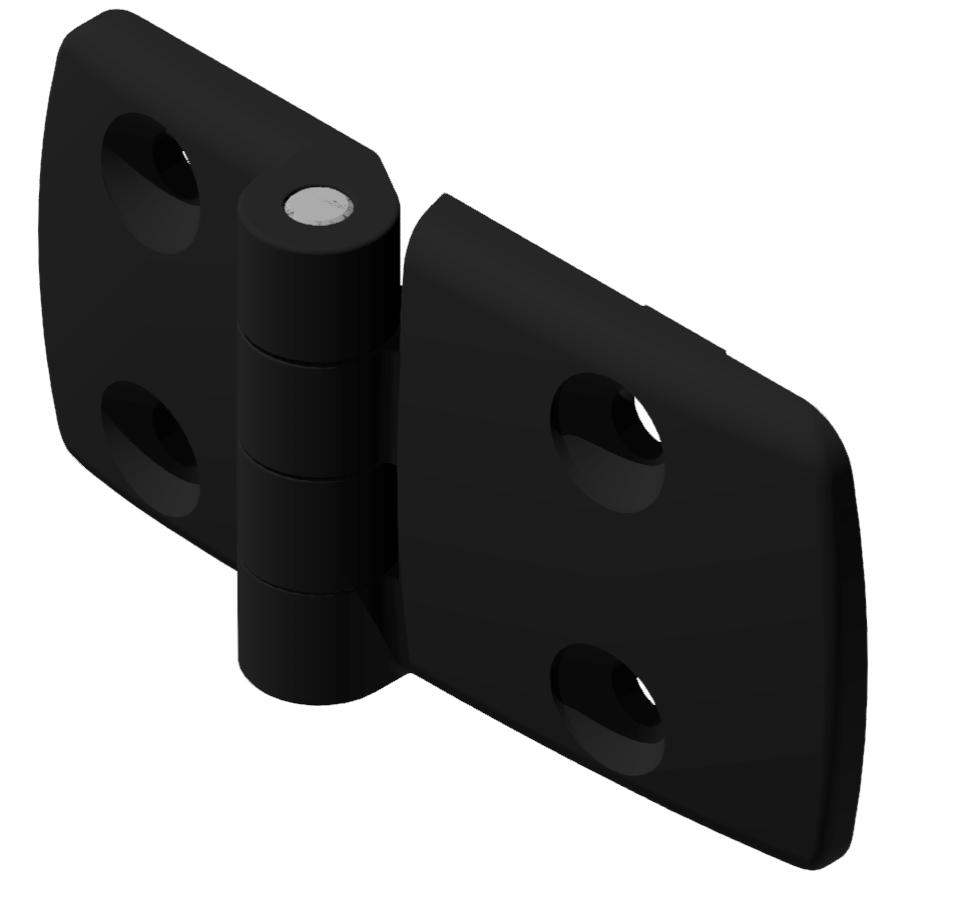 Kombischarnier fest 40x60 PA, schwarz -10