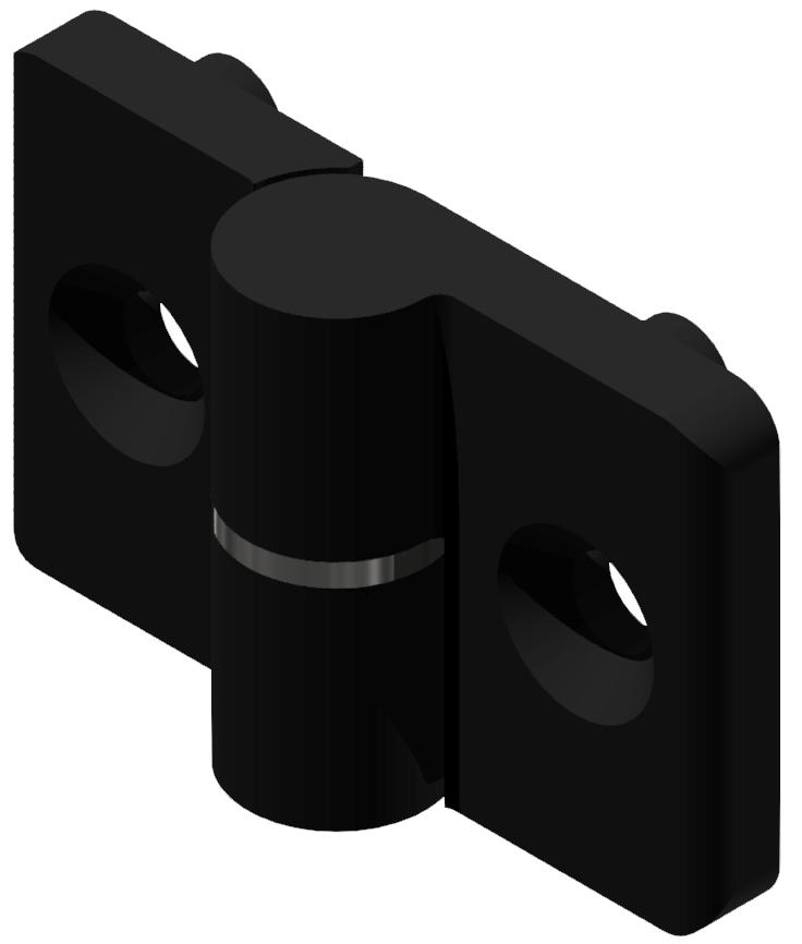 Scharnier 6 PA, links, schwarz