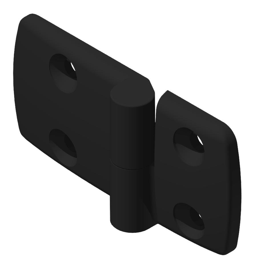 Kombischarnier rechts 40x60 PA, schwarz -10