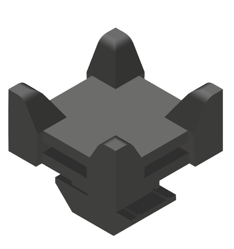 Kreuz Kabelbinderblock PA schwarz-10