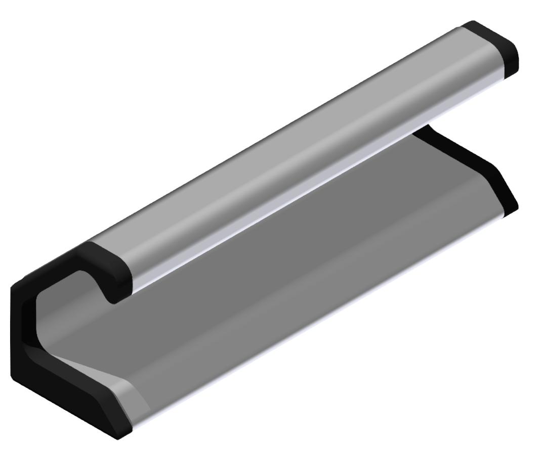 Griffleisten-Abdeckkappensatz, schwarz-8