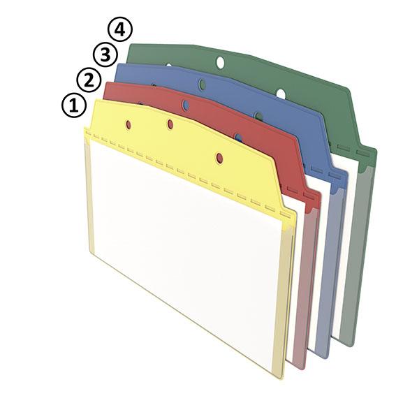 Anhänge-Sichttasche 1/3 DIN A4 hoch