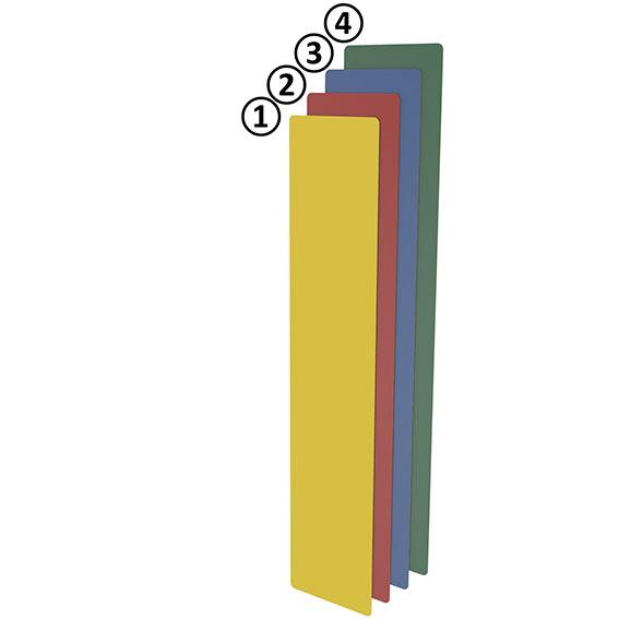Bodenmarkierung I-Form 75 - blau