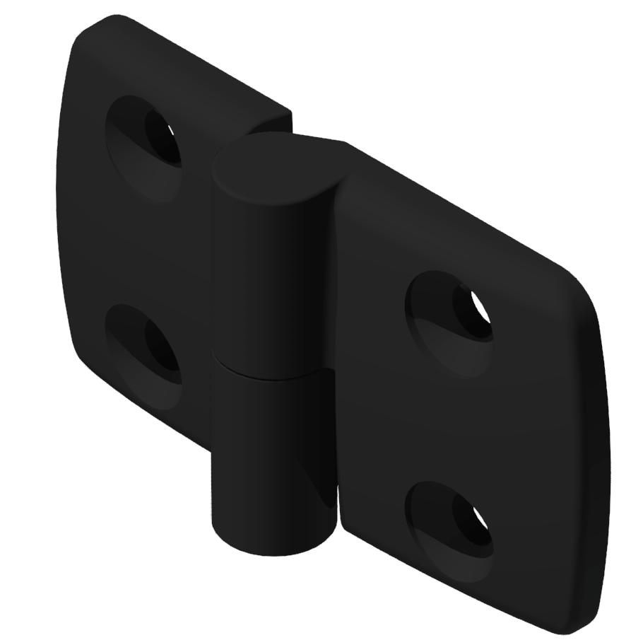 Kombischarnier links 40x45 PA, schwarz -10