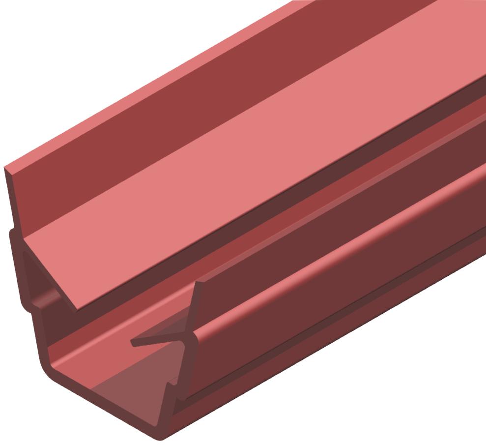 Abdeck- und Einfassprofil 8, rot