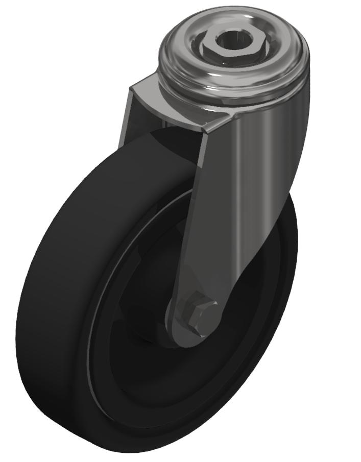 Lenkrolle D125 ESD, verzinkt