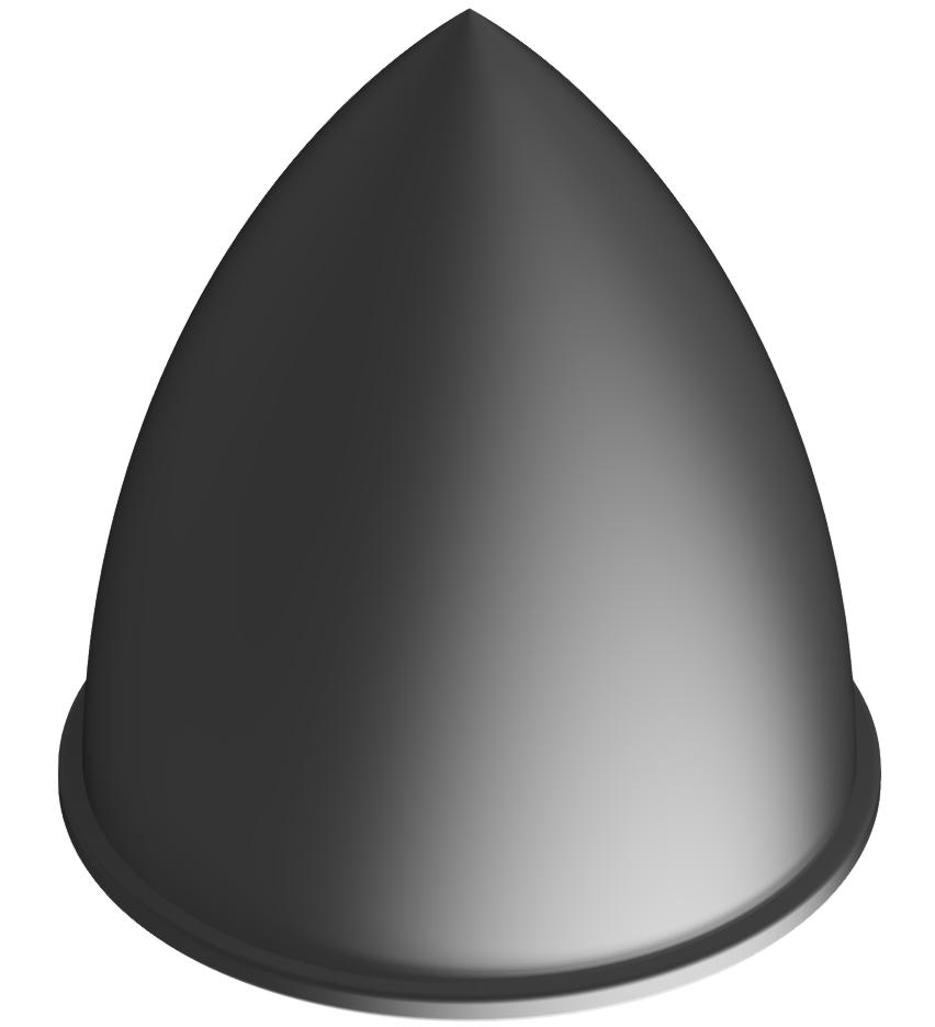 Parabel-Feder M10 D50x58, schwarz