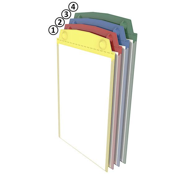 Magnetische Sichttasche DIN A4 hoch - blau