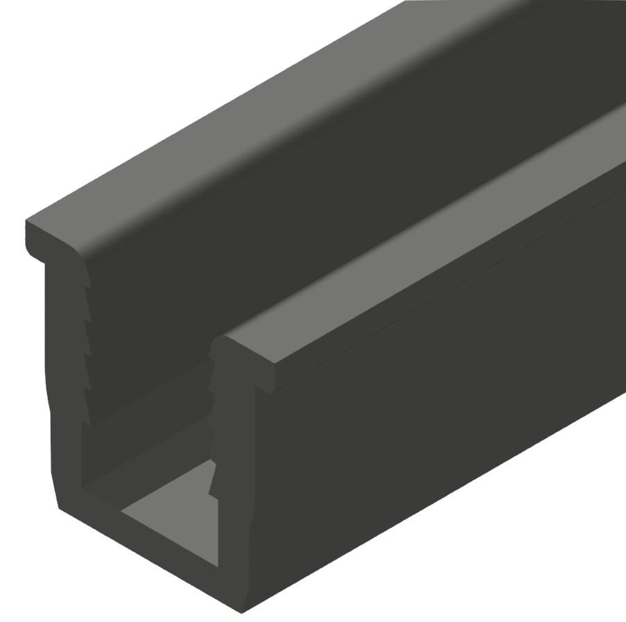 Einfassprofil, schwarz-10