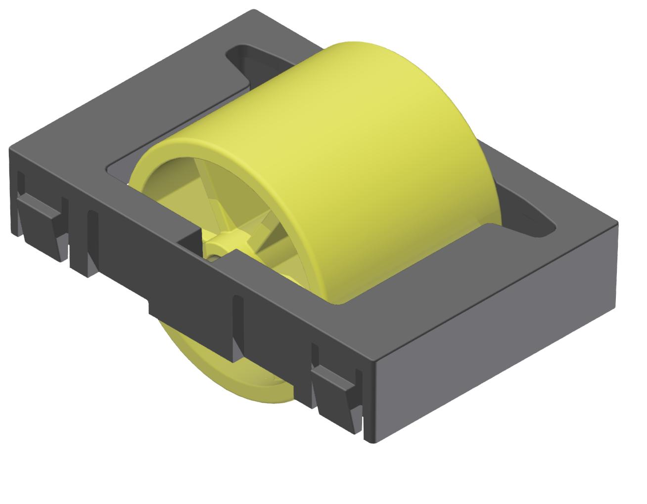 Rollenelement D28, gelb-schwarz - Alu