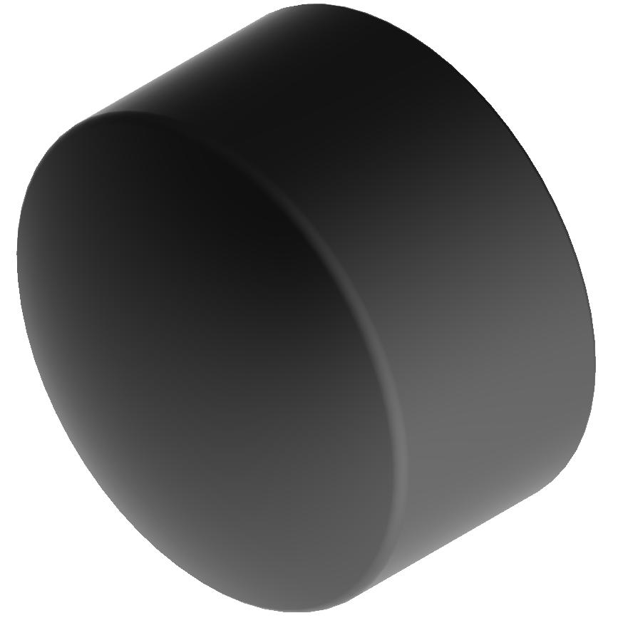 Rohr-Fusskkappe, schwarz