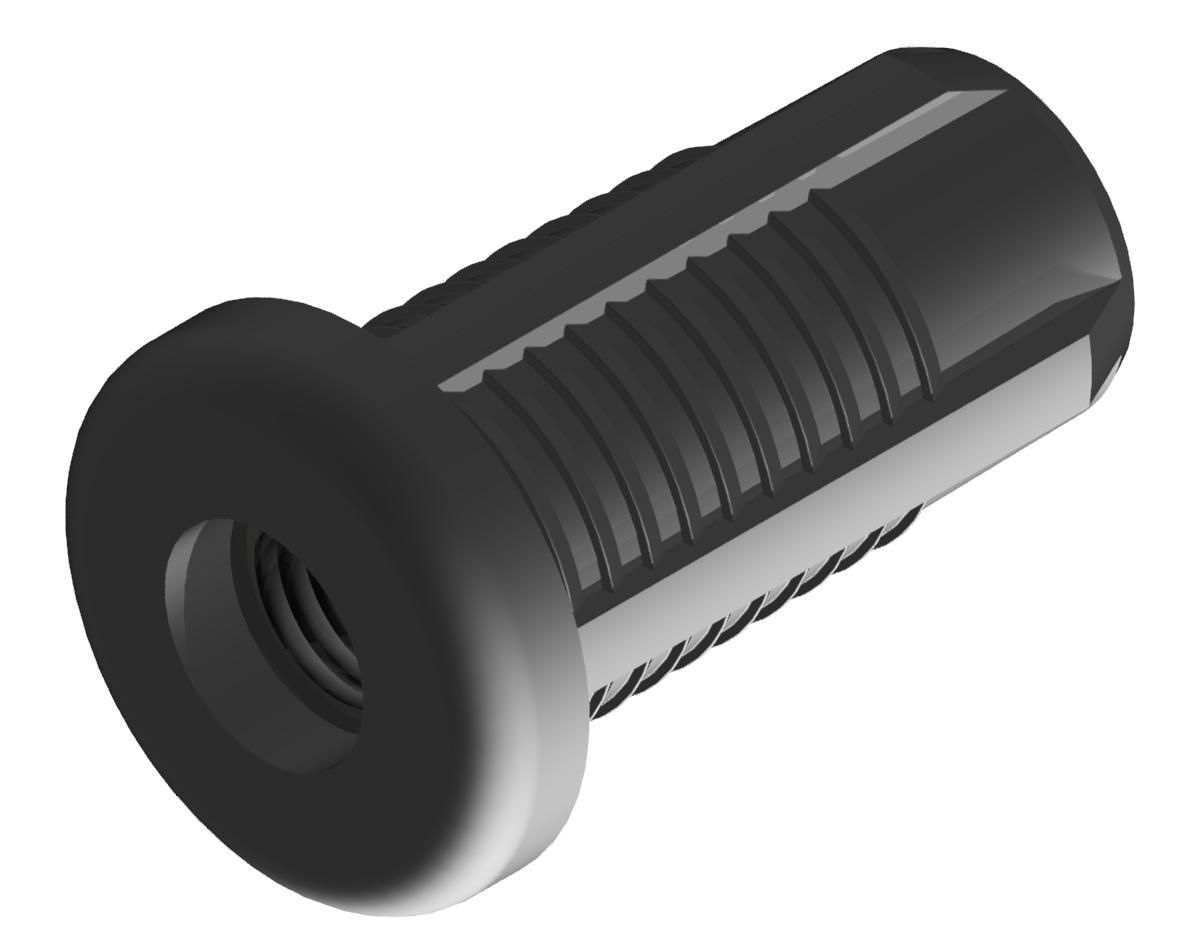 Gewindehülse M8 Set, schwarz - D28