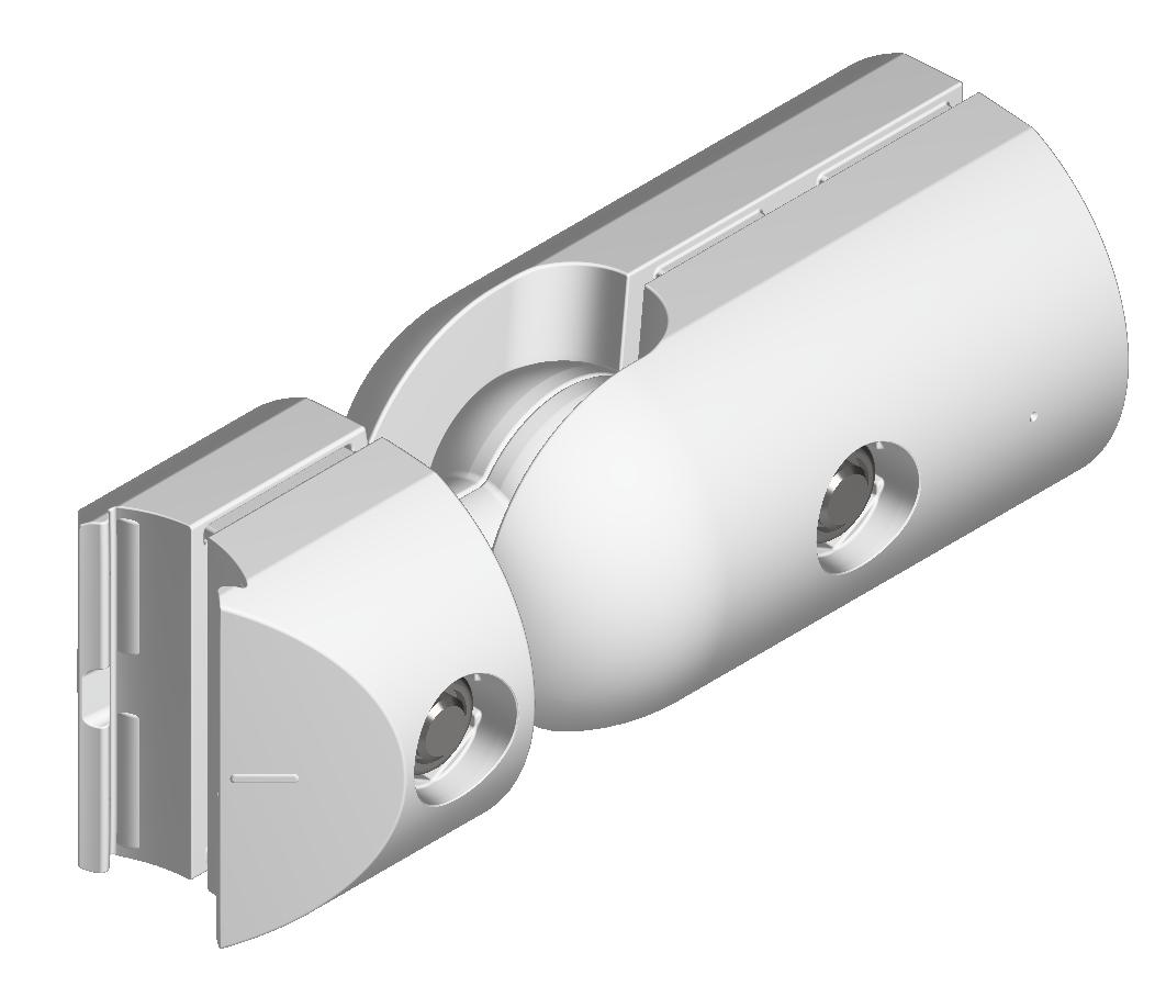 Kugel-Verbindersatz D30, natur