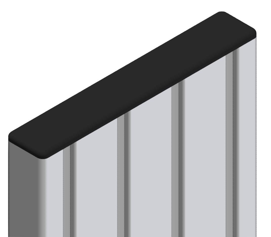 Abdeckkappe 28x160, schwarz-8
