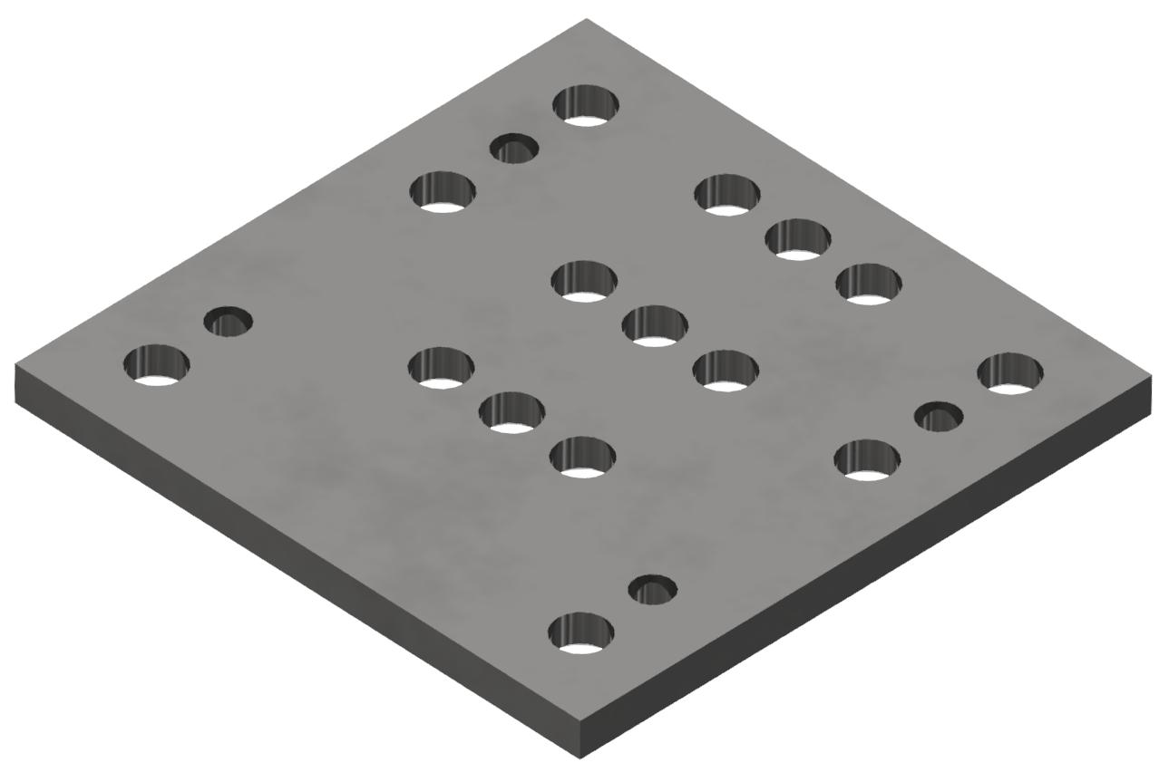 Bodenplatte 160x160 St, verzinkt-8