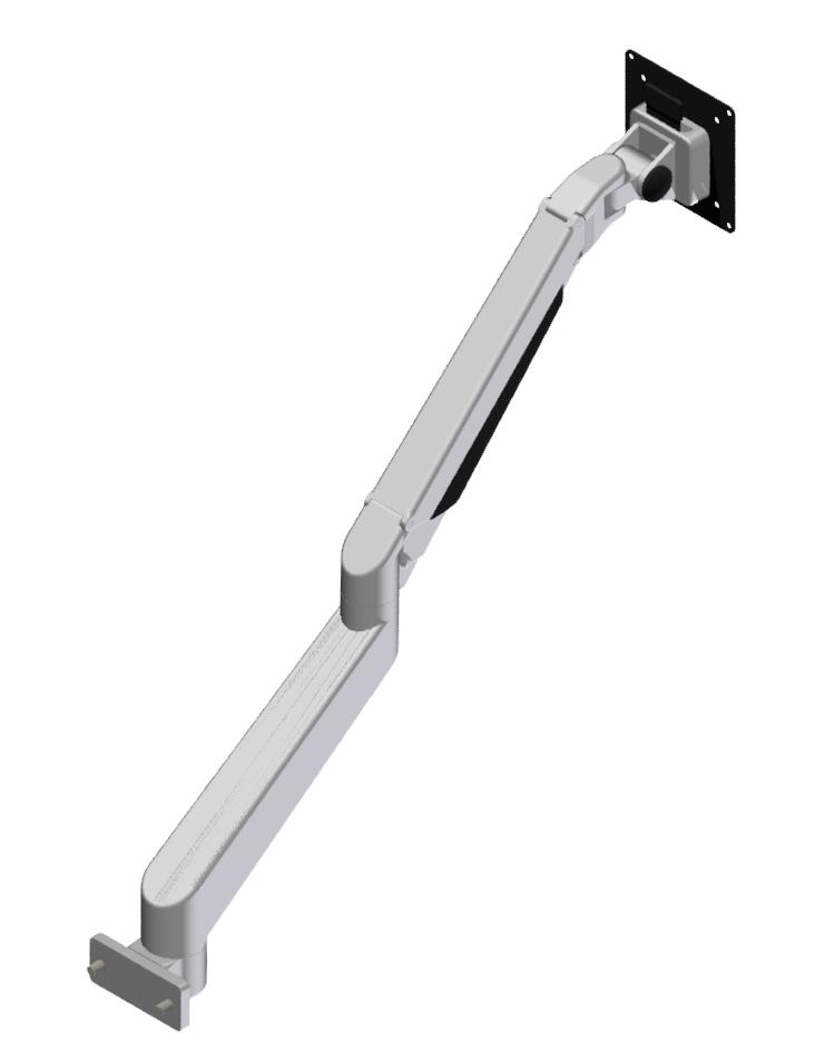 Monitorarm höhenverstellbar 5 Gelenke, weißaluminium-8