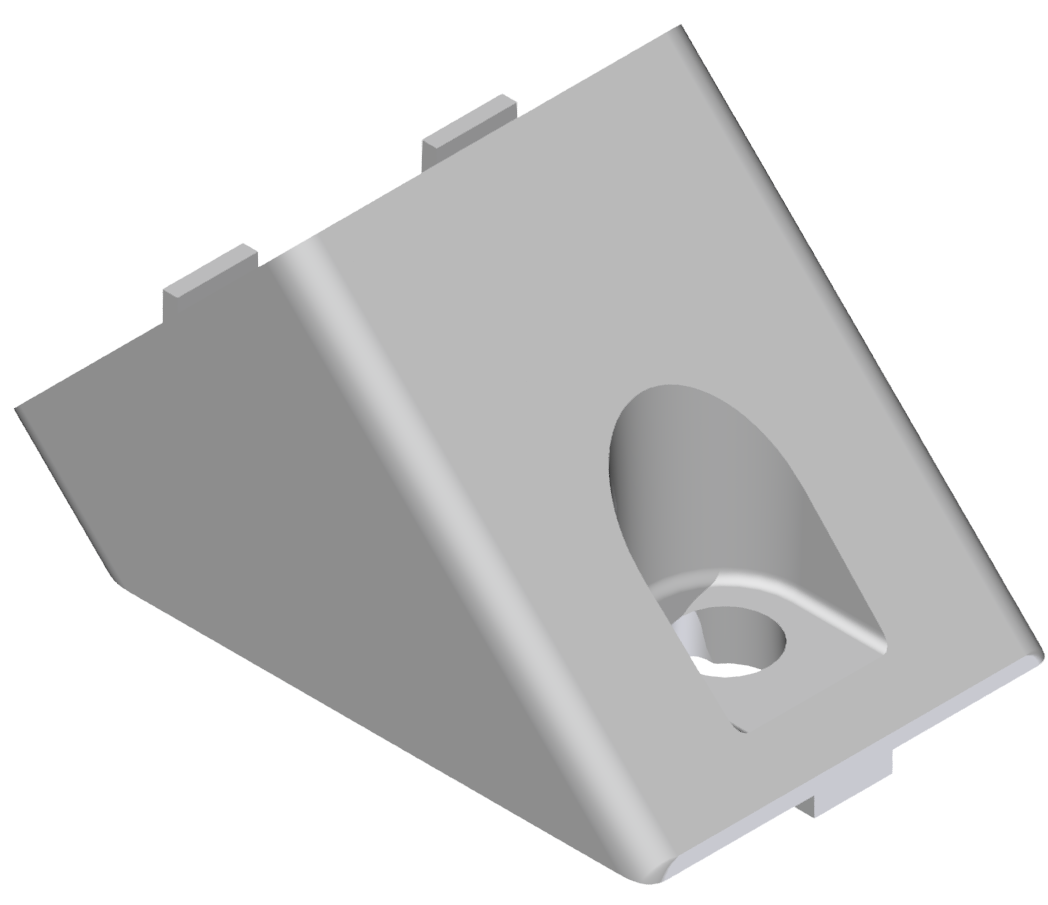 Winkelverbinder 40x40 45°, weißaluminium-8