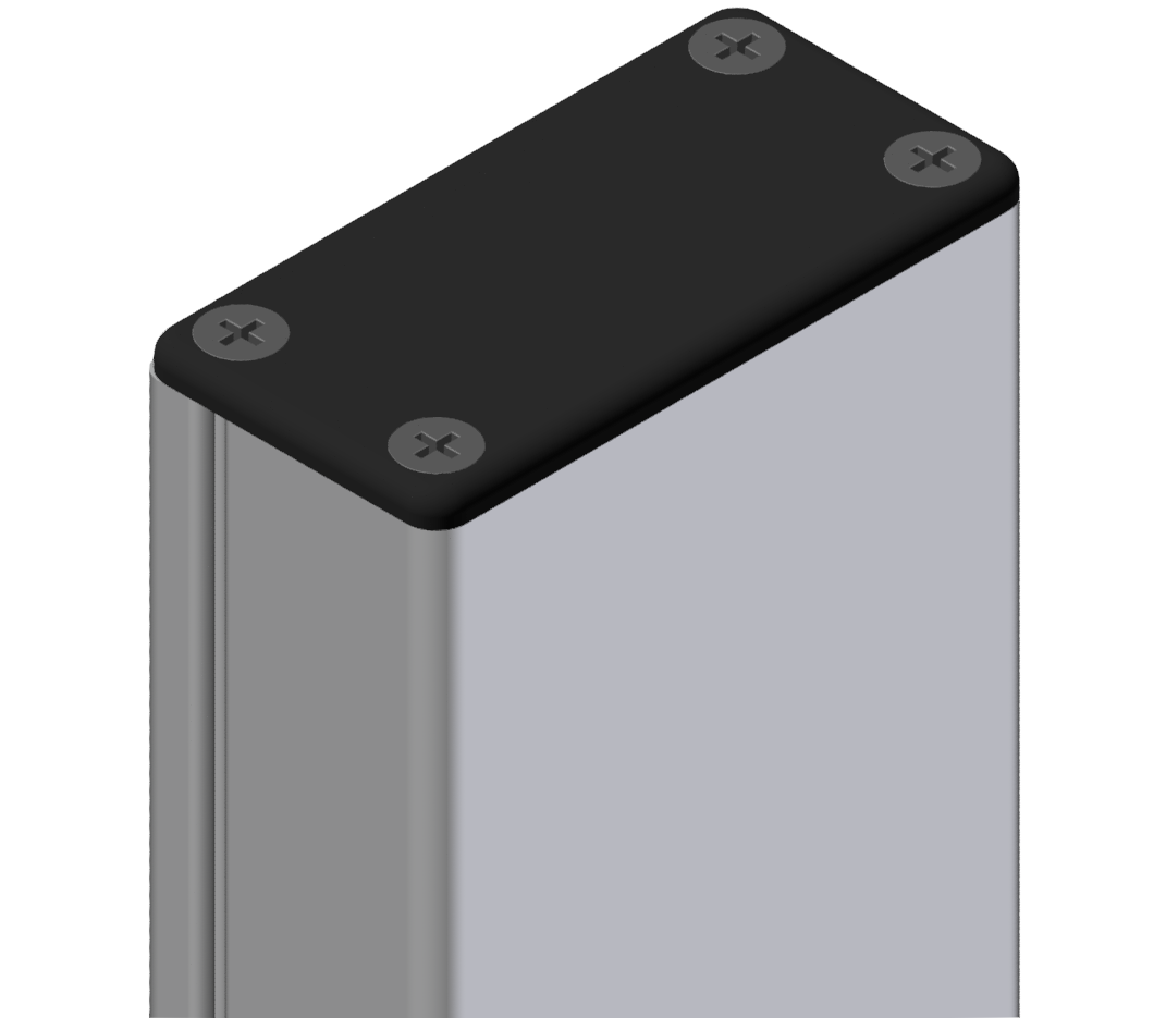 Abdeckkappe Kabelkanal 40x80, schwarz-8