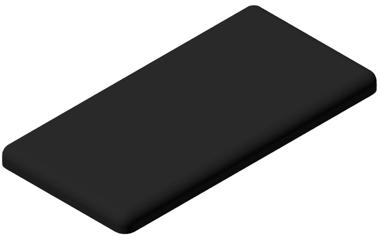 Abdeckkappe 20x40, schwarz-6