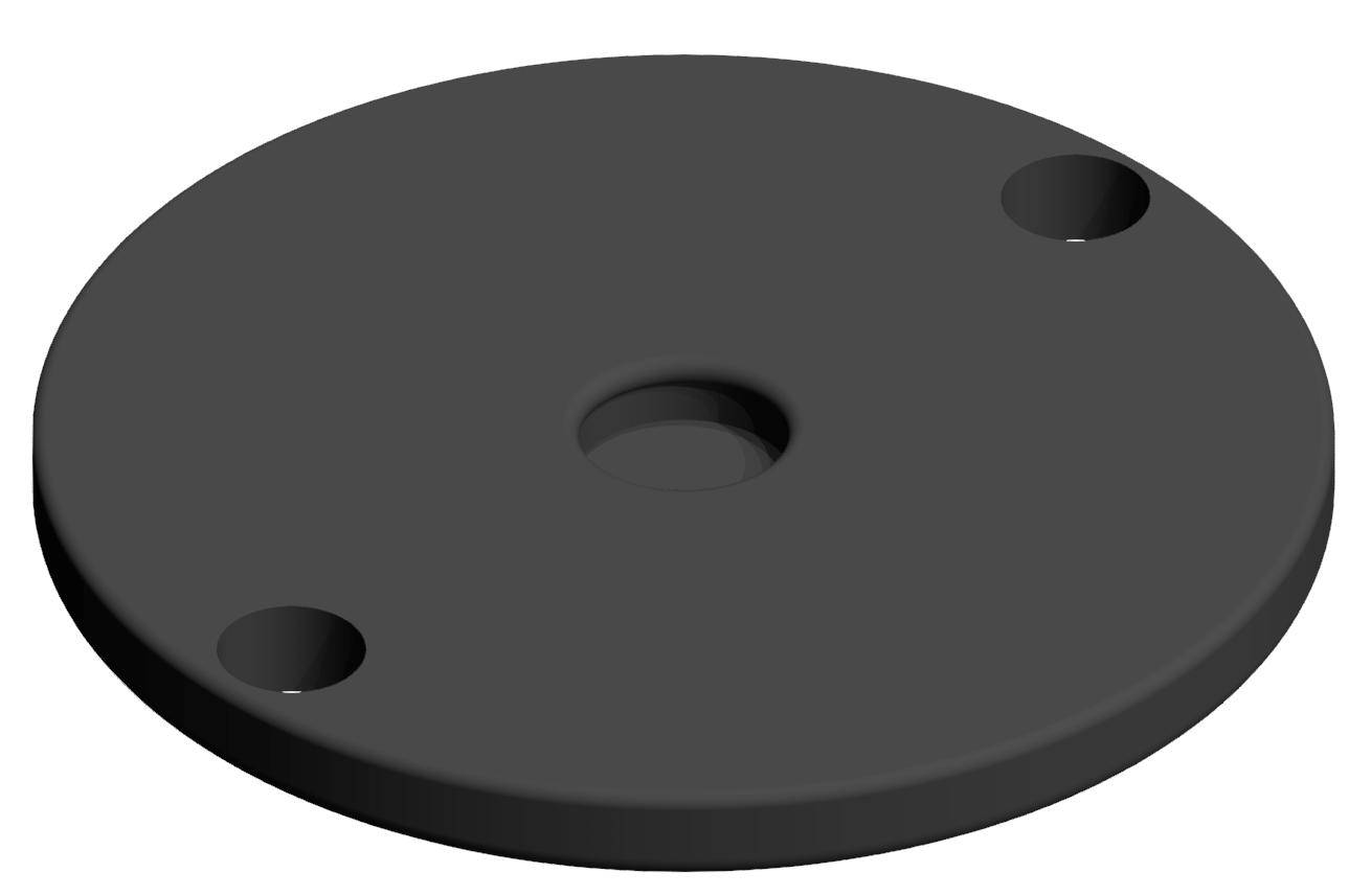 Gummieinsatz A D100, schwarz