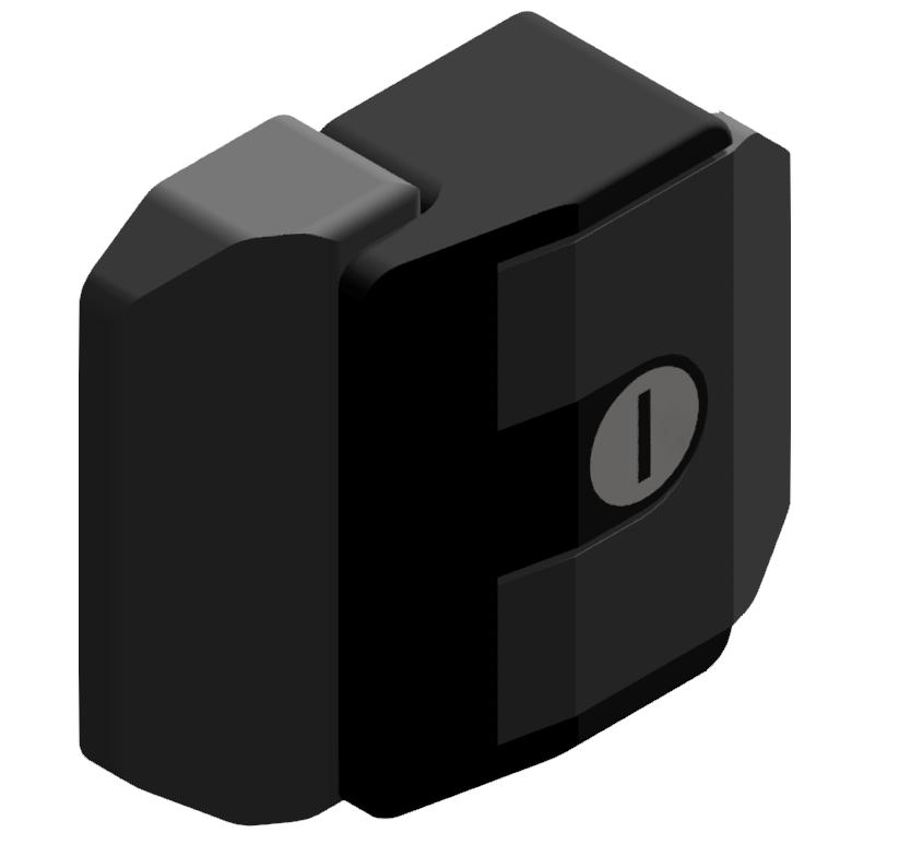 Fallenverschluß A gleich, schwarz-8