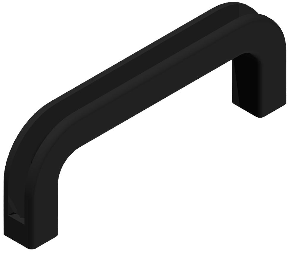Handgriff 120PA, schwarz - 6/8/10