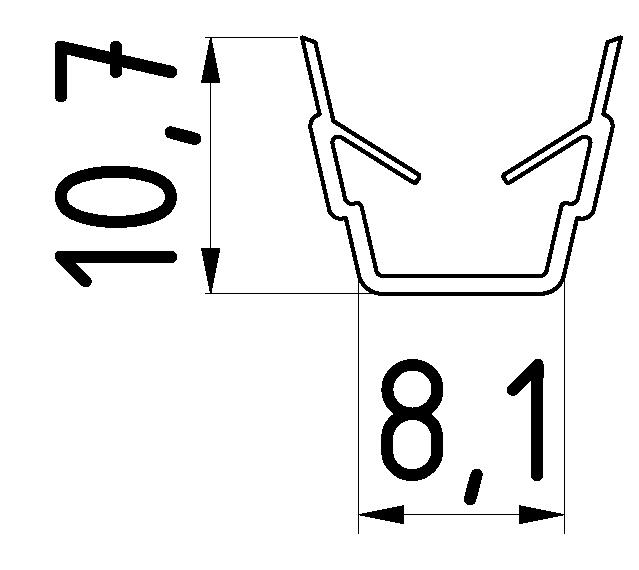 Abdeck- und Einfassprofil (Zuschnitt) - 8