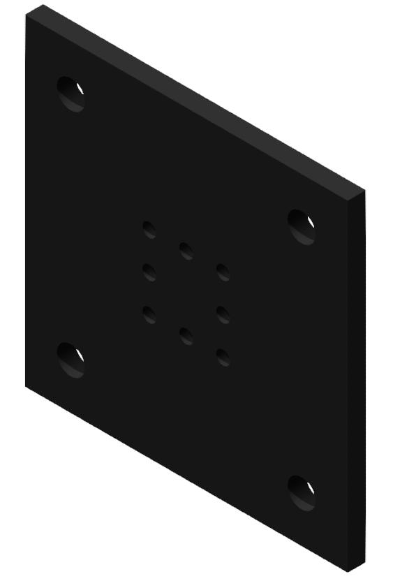 Portalplatte 350x350 120x120, brüniert-8