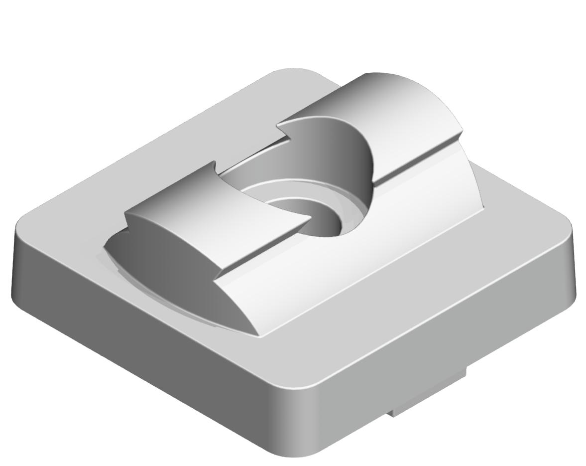 Set Adapterplatte 40x40 D28