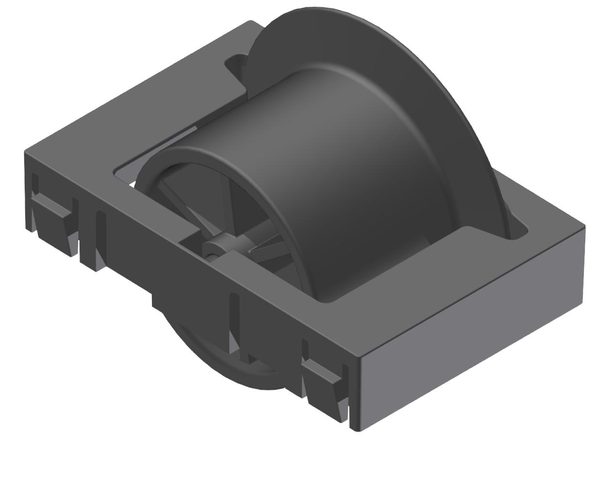 Rollenelement mit Spurkranz D28 ESD, schwarz -schwarz - Alu
