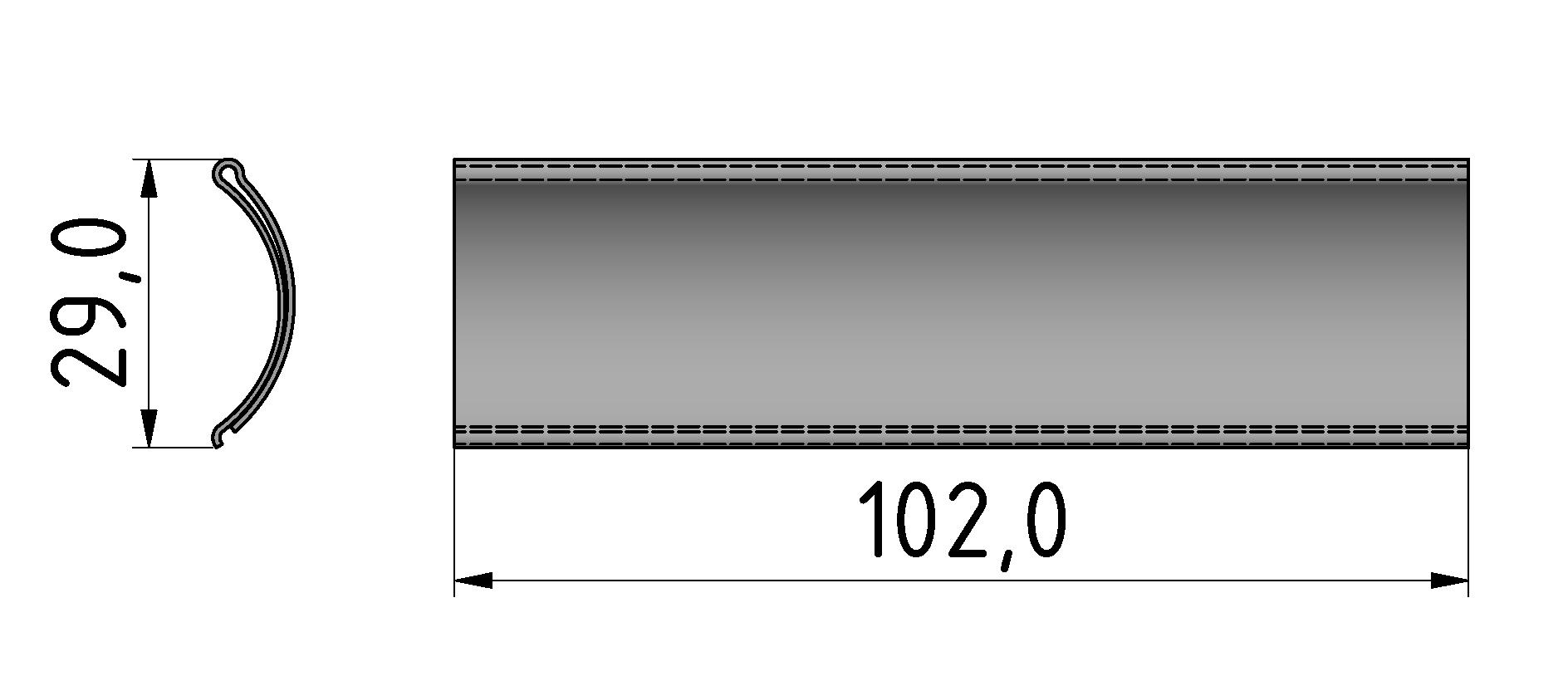 Beschriftungselementl D30-100, transparent