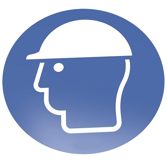 Kopfschutz benutzen Bodenschild