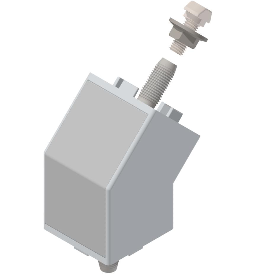 Winkelverbindersatz 45 45°, weißaluminium-10