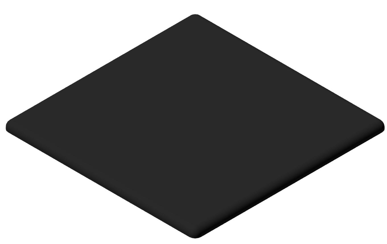 Abdeckkappe 100x100, schwarz-10