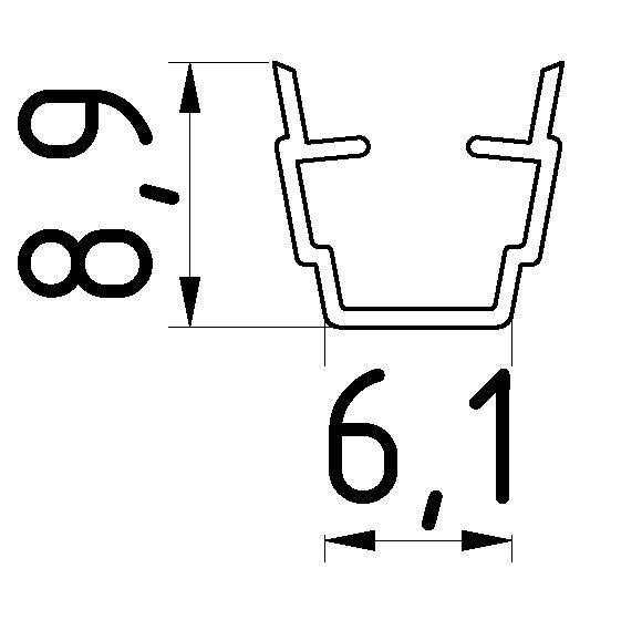 Abdeck- und Einfassprofil 6, natur