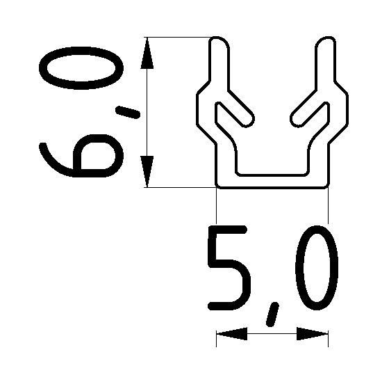 Abdeck- und Einfassprofil 5, schwarz
