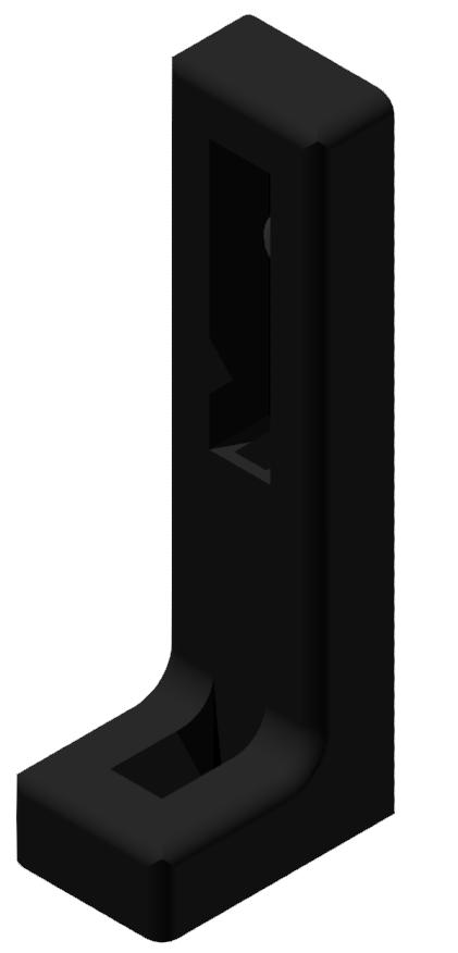 Winkelstellfuß ohne Verstellung, schwarz-6