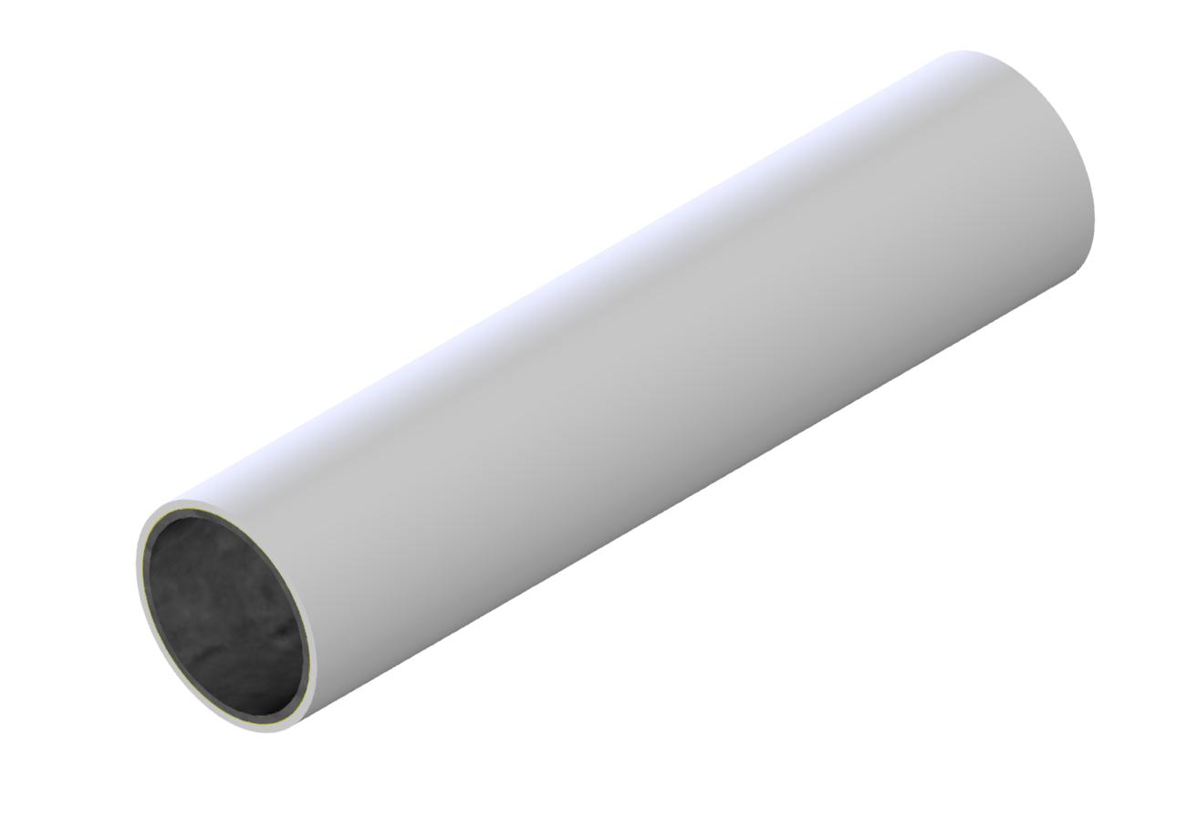 M-Rohr 1 mm weiß