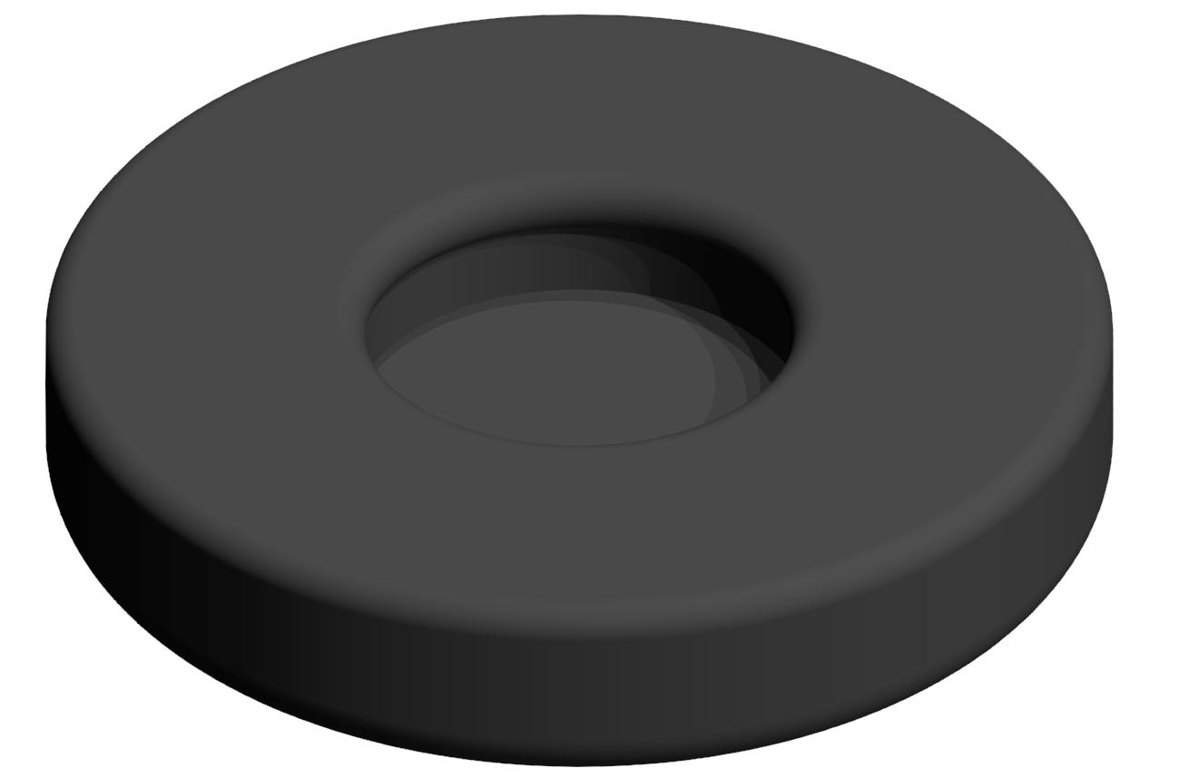 Gummieinsatz A D45, schwarz