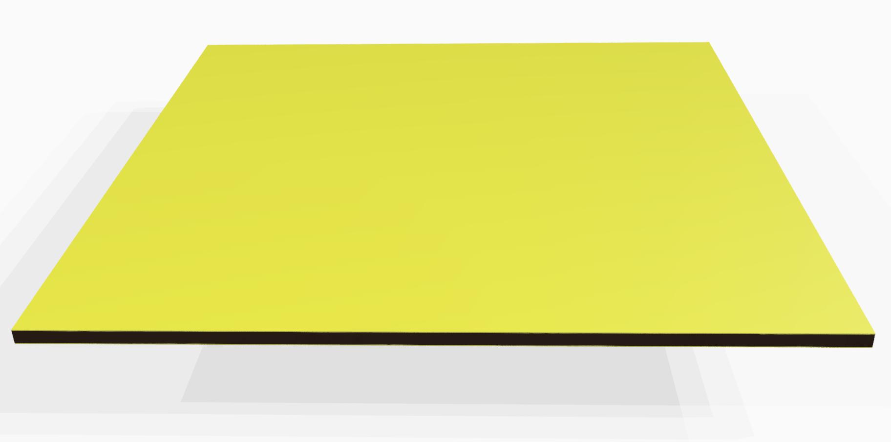 Vollkunststoff 4 mm ähnlich RAL 1034, gelb