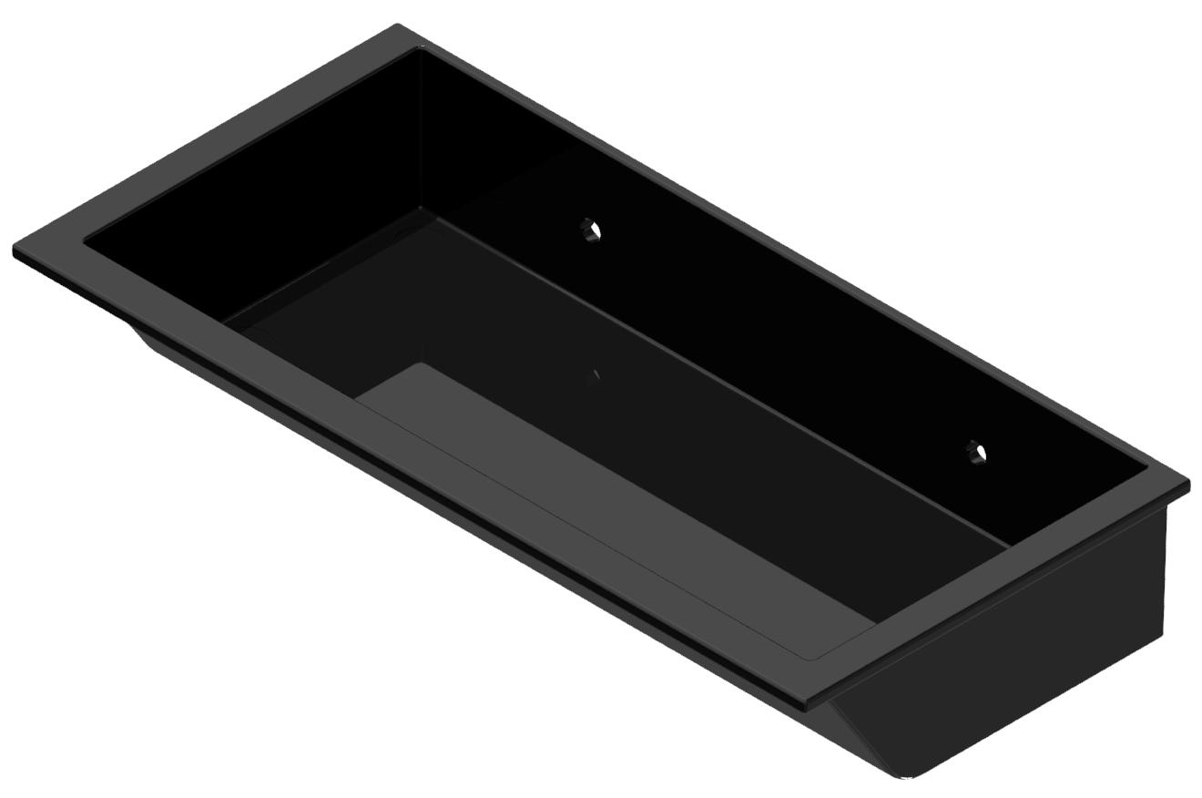 Greifschale 210x105, schwarz-8