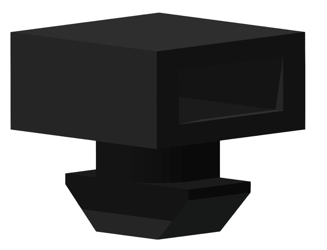 Kabelbinder-Block 8, schwarz